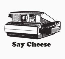 say cheese old school camera tee  by Tia Knight