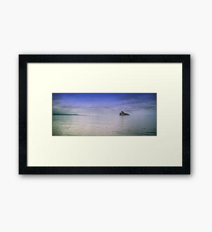 Galapagos rocks Framed Print