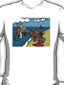 Teddy Bear And Bunny - Lying To Women T-Shirt