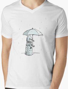 Dalek in the Rain Mens V-Neck T-Shirt