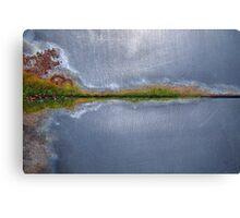 Hallucinogenic rustic island lakeside Canvas Print