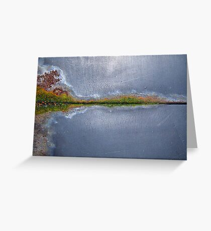 Hallucinogenic rustic island lakeside Greeting Card