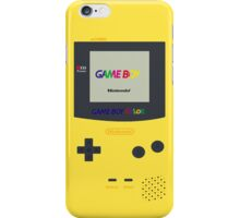 Gameboy Color (Yellow) iPhone Case/Skin