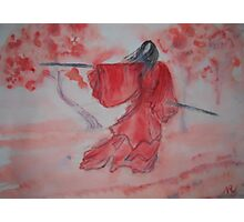 Chinese Ink III - Warrior Woman  Photographic Print