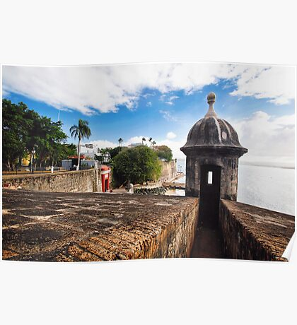 Old San Juan City Walls and Gate Poster