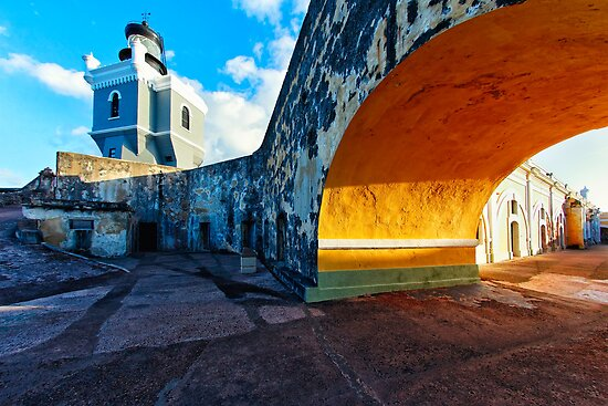 Lighthouse  in Fort El Morro by George Oze