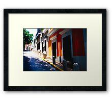 Calle De Sol Framed Print