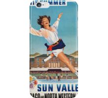 Vintage poster - Sun Valley iPhone Case/Skin