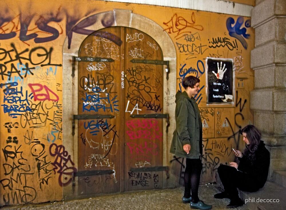 Graffiti smoke Break by phil decocco