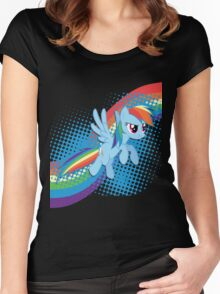 Rainbow DASH! Women's Fitted Scoop T-Shirt