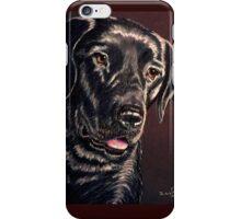 """Signature Grin"" Portrait Of A Black Lab iPhone Case/Skin"