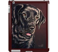 """Signature Grin"" Portrait Of A Black Lab iPad Case/Skin"