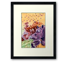 Feed the Hippos Framed Print
