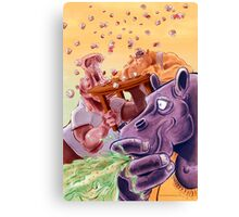 Feed the Hippos Canvas Print