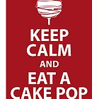 Keep calm and eat a cake pop by vitbich