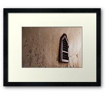 Bagan temple window Framed Print
