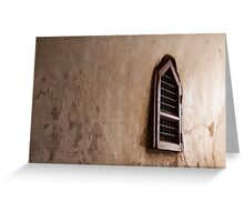 Bagan temple window Greeting Card