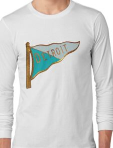 Vintage Detroit Flag Souvenir Long Sleeve T-Shirt