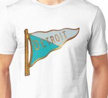 Vintage Detroit Flag Souvenir Unisex T-Shirt