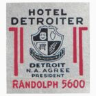 Vintage Detroit Hotel Detroiter Ad by The Detroit Room