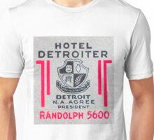 Vintage Detroit Hotel Detroiter Ad Unisex T-Shirt