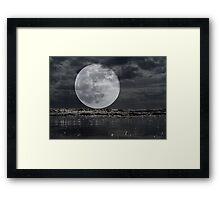 Full Moon On The Rise Framed Print