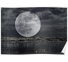 Full Moon On The Rise Poster