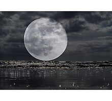 Full Moon On The Rise Photographic Print
