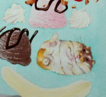 Hamster Sundae! Sticker