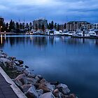 Dawn is breaking over the marina by DPalmer