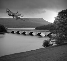 Lancaster Over Ladybower by Colin J Williams Photography