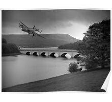 Lancaster Over Ladybower Poster