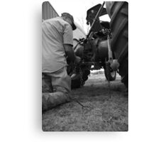 Equipment repair Canvas Print