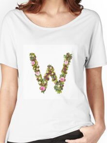 Capital Letter W Part of a set of letters, Numbers and symbols  Women's Relaxed Fit T-Shirt