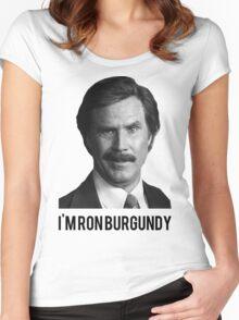 Hi! I'm Ron Burgundy Women's Fitted Scoop T-Shirt