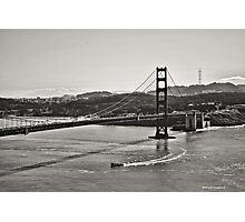 Boating Under The Golden Gate Photographic Print