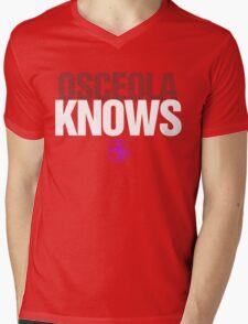 Discreetly Greek - Osceola Knows - Nike Parody Mens V-Neck T-Shirt