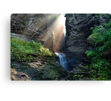Hopeful Rays Spotlight Minnehaha Falls Canvas Print