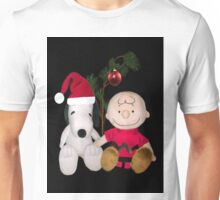 SNOOPY & CHARLIE BROWN FESTIVE CHRISTMAS-JOURNAL.. PICTURE AND OR CARD ECT Unisex T-Shirt