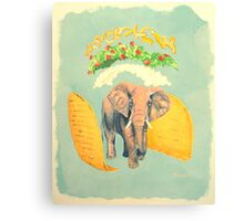 An Elephant Taco Canvas Print