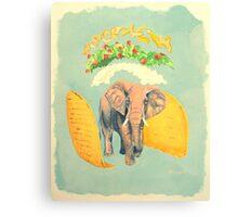 An Elephant Taco Canvas Print