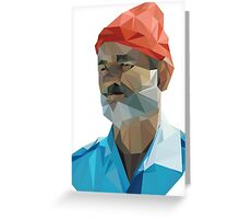 The Life Aquatic with Steve Zissou geometric low poly portrait - Bill Murray Greeting Card