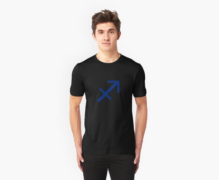 Pixel Sagittarius Zodiac by waytootoxic