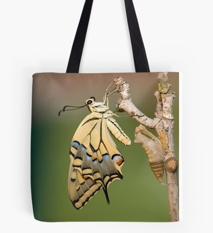 Butterfly as it emerges from its cocoon. Tote Bag