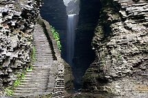 Cavern Cascade Beyond The Stone Stairs by Gene Walls