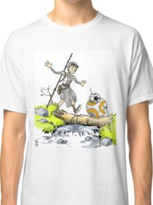 bb-8 and rey calvin and hobbes Classic T-Shirt