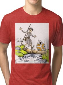 bb-8 and rey calvin and hobbes Tri-blend T-Shirt