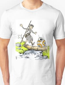 bb-8 and rey calvin and hobbes T-Shirt