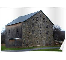 Stone Barn in Nippenose Valley Poster
