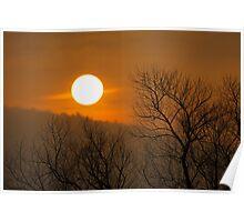 Foggy Sunset Poster